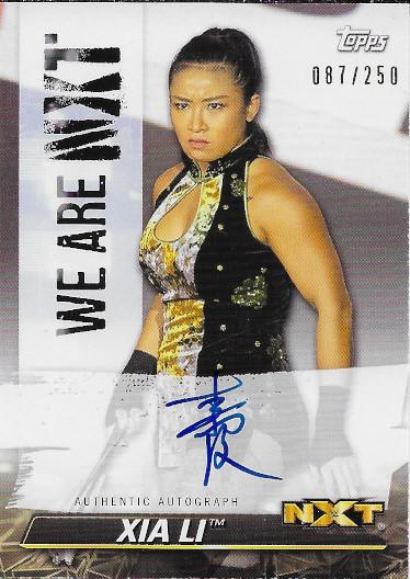 2021 Topps WWE NXT We Are NXT Autographs #A-XL Xia Li