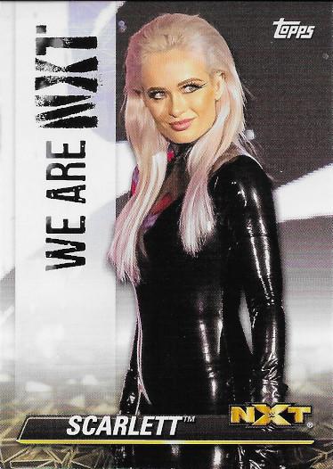 2021 Topps WWE NXT We Are NXT #NXT-50 Scarlett