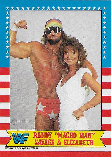 "1987 Topps WWF #7 Randy ""Macho Man"" Savage & Elizabeth"
