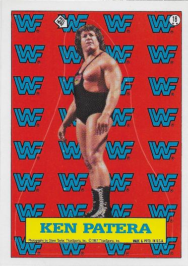 1987 Topps WWF Sticker #18 Ken Patera