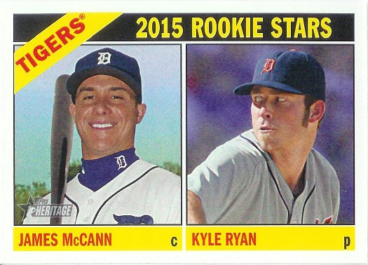 2015 Topps Heritage #107 James McCann / Kyle Ryan