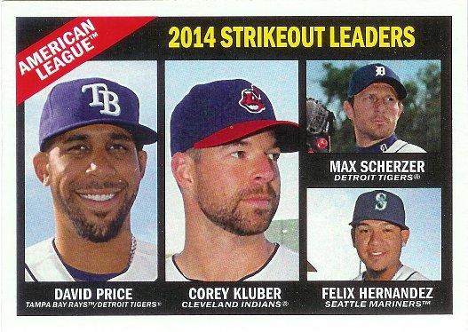 2015 Topps Heritage #226 Felix Hernandez / Max Scherzer / Corey Kluber / David Price