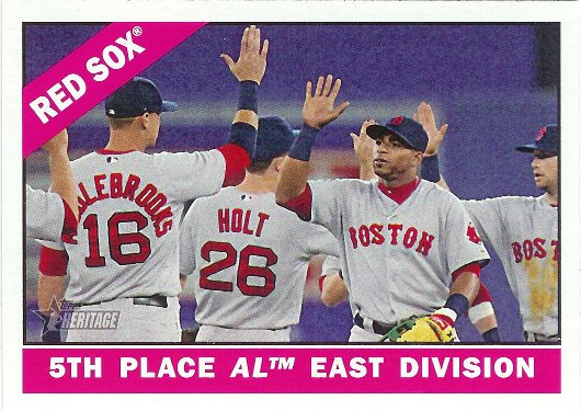 2015 Topps Heritage #259 Boston Red Sox