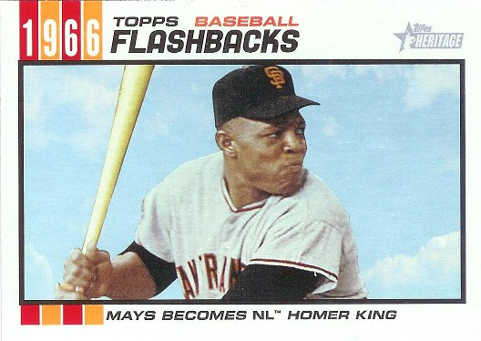 2015 Topps Heritage Baseball Flashbacks #BF-9 Willie Mays