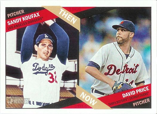 2015 Topps Heritage Then and Now #TN-9 Sandy Koufax / David Price