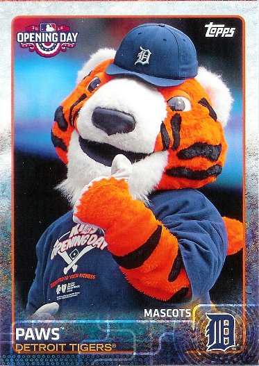 2015 Topps Opening Day Mascots #M-11 Paws
