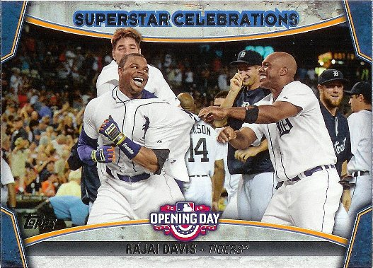 2015 Topps Opening Day                 Superstar Celebrations  #SC-06                 Rajai Davis image