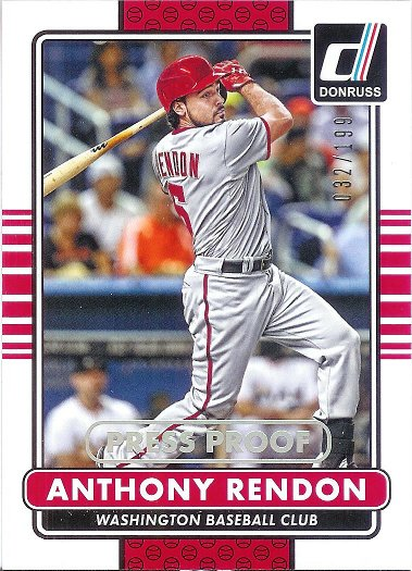 2015 Donruss Silver Press Proof #177 Anthony Rendon