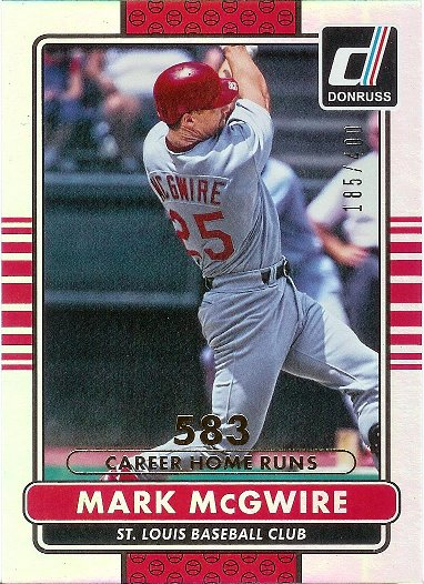 2015 Donruss Career Stat Line #184 Mark McGwire