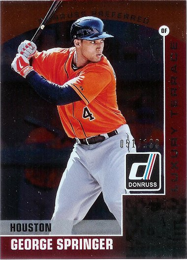 2015 Donruss Preferred Red #27 George Springer