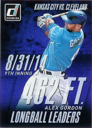 2015 Donruss Long Ball Leaders #10 Alex Gordon