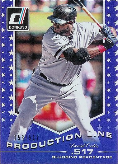2015 Donruss Production Line Blue #14 David Ortiz