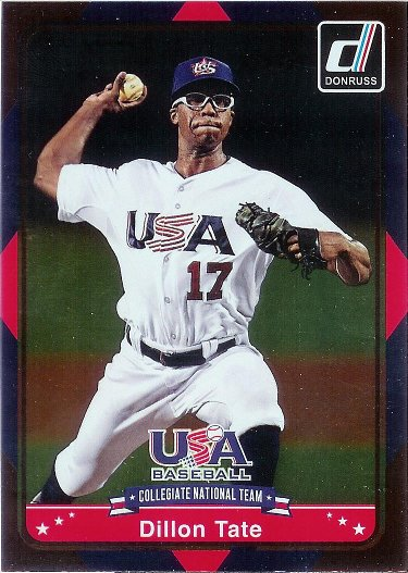 2015 Donruss USA Collegiate National Team #24 Dillon Tate