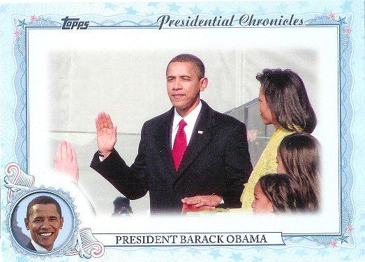 2015 Topps Archives Presidential Chronicles #PC-BO Barack Obama 44th U.S. President