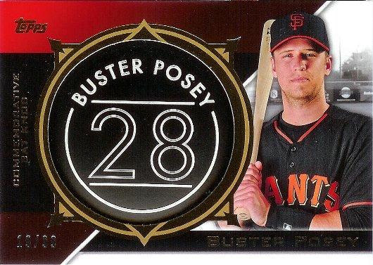 2015 Topps Commemorative Bat Knobs Black #CBK-03 Buster Posey