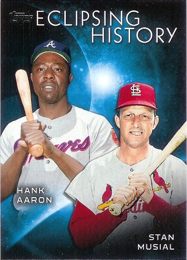2015 Topps Eclipsing History #EH-2 Stan Musial / Hank Aaron
