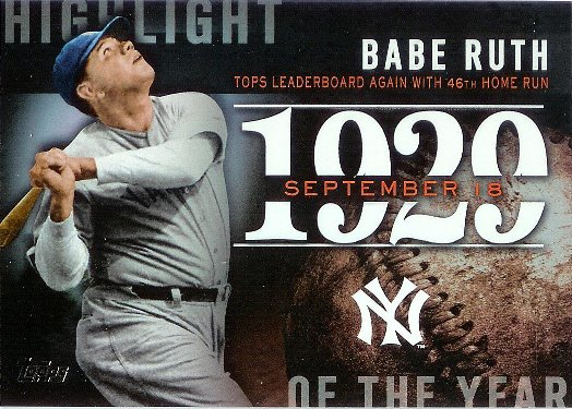2015 Topps Highlight of the Year #H-32 Babe Ruth