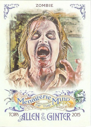 2015 Allen & Ginter Menagerie of the Mind MM-11 Zombie