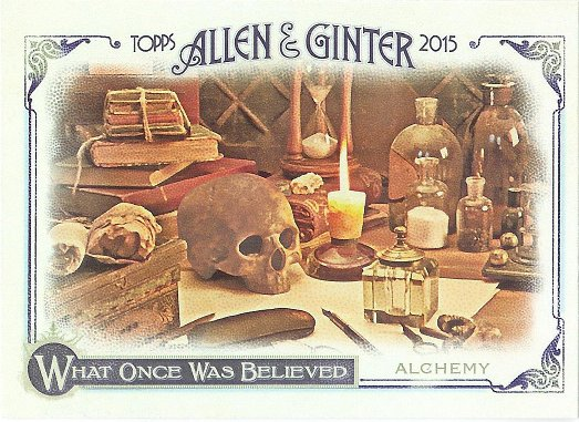 2015 Allen & Ginter What Once Was Believed WAS-5 Alchemy