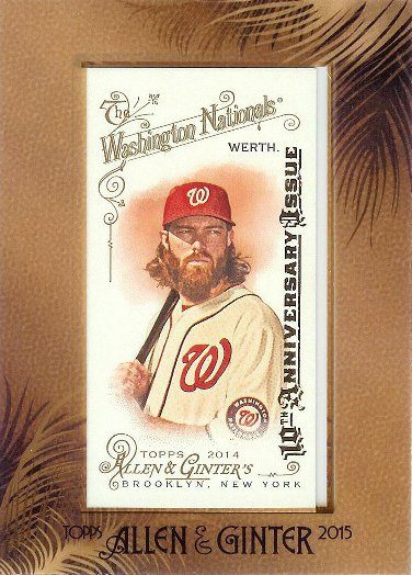 2015 Allen & Ginter 10th Anniversary Issue 2014 Mini 305 Jayson Werth
