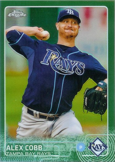 2015 Topps Chrome Green Refractor #33 Alex Cobb