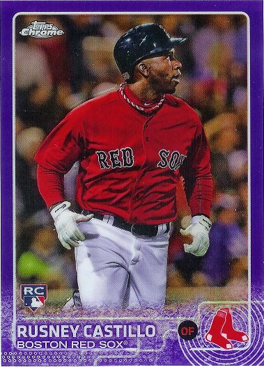 2015 Topps Chrome Purple Refractor #160 Rusney Castillo RC