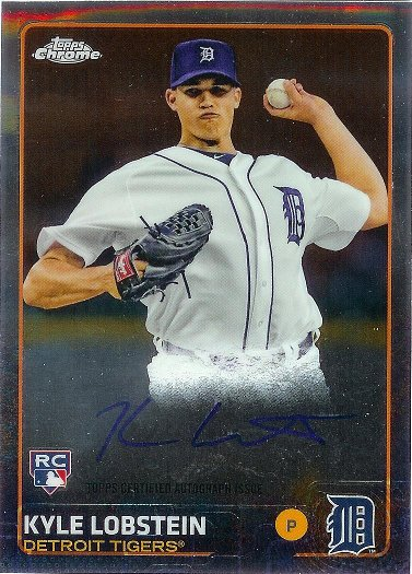 2015 Topps Chrome Rookie Autographs #AR-KL Kyle Lobstein RC
