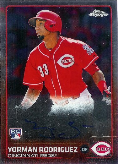 2015 Topps Chrome Rookie Autographs #AR-YR Yorman Rodriguez RC