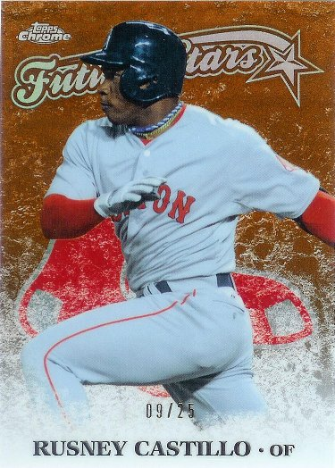 2015 Topps Chrome Future Stars Orange Refractor #FSC-02 Rusney Castillo RC