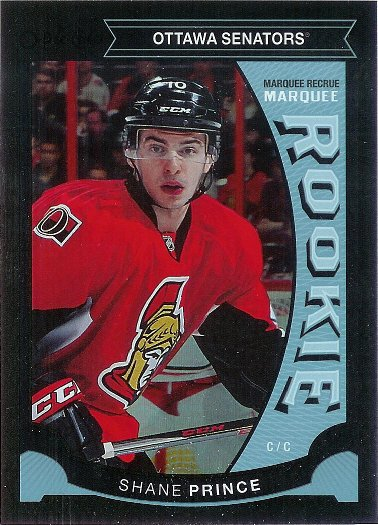 2015-16 O-Pee-Chee Black Bordered Rainbow Foil #512 Shane Prince RC MR SP