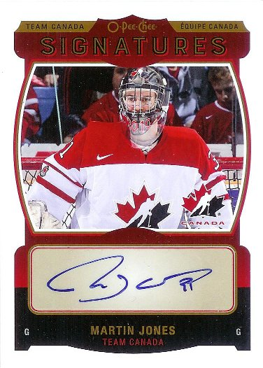2015-16 O-Pee-Chee Team Canada Signatures #TCS-MJ Martin Jones
