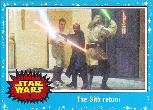 2015 Topps Star Wars: Journey to The Force Awakens #5 The Sith return