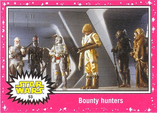 2015 Topps Star Wars: Journey to The Force Awakens Lightsaber Neon Starfield #53 Bounty hunters