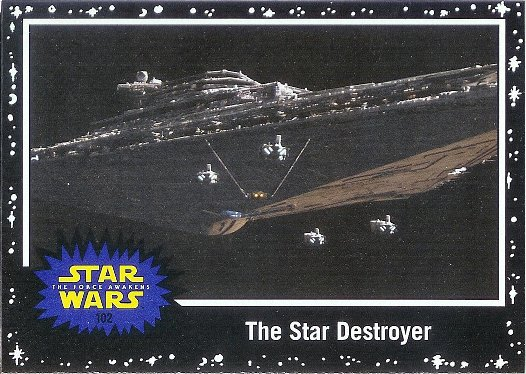2015 Topps Star Wars: Journey to The Force Awakens Black Starfield #102 The Star Destroyer