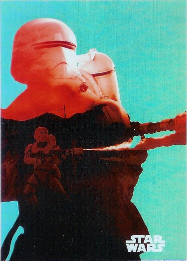 2015 Topps Star Wars: Journey to The Force Awakens Character Silhouette Foils #F-8 Flametrooper