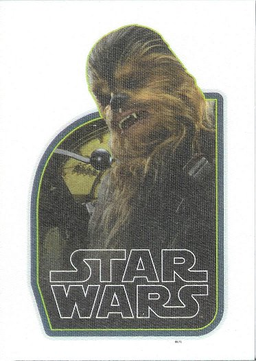 2015 Topps Star Wars: Journey to The Force Awakens Cloth Stickers #CS-4 Chewbacca