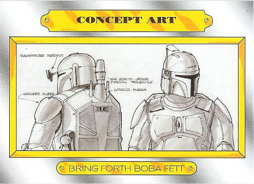 2015 Topps Star Wars: Journey to The Force Awakens Concept Art #CA-4 Bring Forth Boba Fett