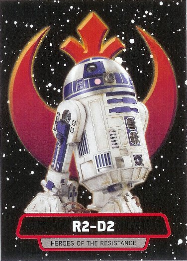 2015 Topps Star Wars: Journey to The Force Awakens Heroes of the Resistance #R-7 R2-D2