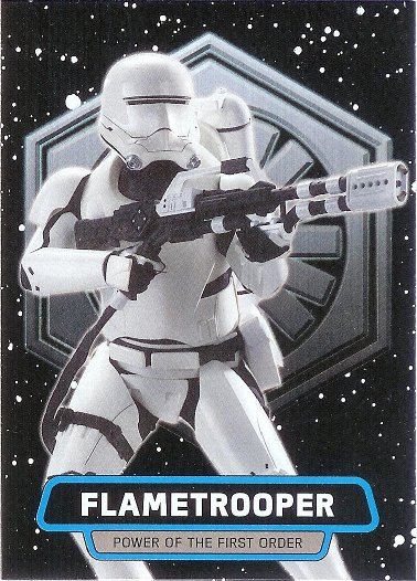 2015 Topps Star Wars: Journey to The Force Awakens Power of the First Order #FO-5 Flametrooper