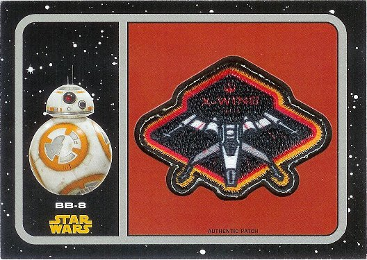 2015 Topps Star Wars: Journey to The Force Awakens Patches #P-9 X-Wing Fighter: BB-8