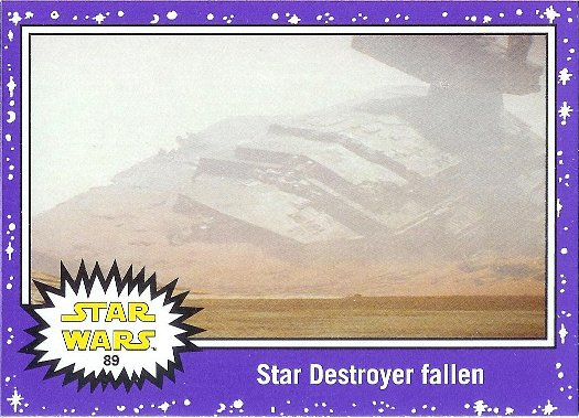 2015 Topps Star Wars: Journey to The Force Awakens Lightsaber Purple Starfield #89 Star Destroyer fallen