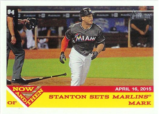 2015 Topps Heritage Now and Then #NT-3 Giancarlo Stanton