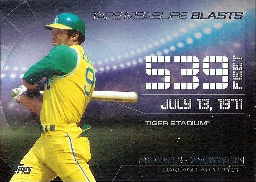 2015 Topps Tape Measure Blasts #TMB-4 Reggie Jackson