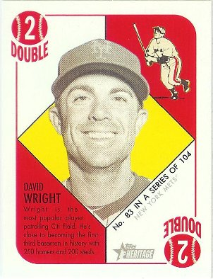 2015 Topps Heritage 51 Collection Gold Back Mini #83 David Wright