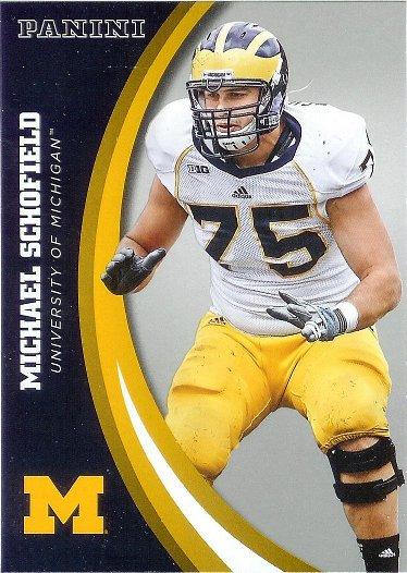 2015 Panini University of Michigan Wolverines Silver #27 Michael Schofield