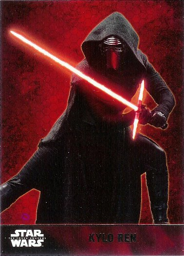 2015 Topps Star Wars The Force Awakens #1 Kylo Ren