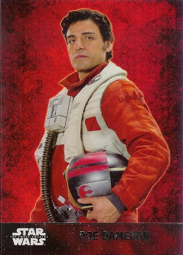 2015 Topps Star Wars The Force Awakens Foil #4 Poe Dameron