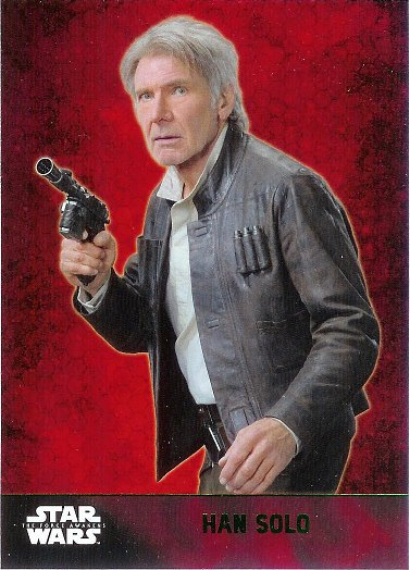 2015 Topps Star Wars The Force Awakens Lightsaber Green #24 Han Solo