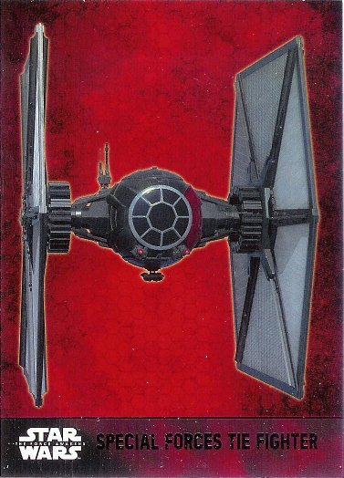 2015 Topps Star Wars The Force Awakens Lightsaber Purple #56 Special Forces TIE Fighter