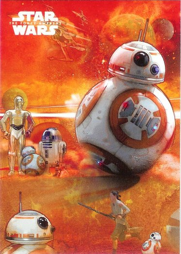 2015 Topps Star Wars The Force Awakens Montage Cards #7 BB-8